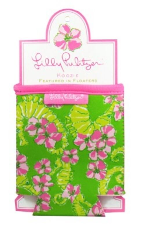 Lilly Pulitzer Floaters Drink Hugger Water Bottle Cooler