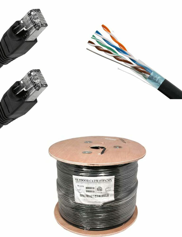 200'FT CAT5'e SHIELDED Outdoor Ethernet Cable UV Direct ...