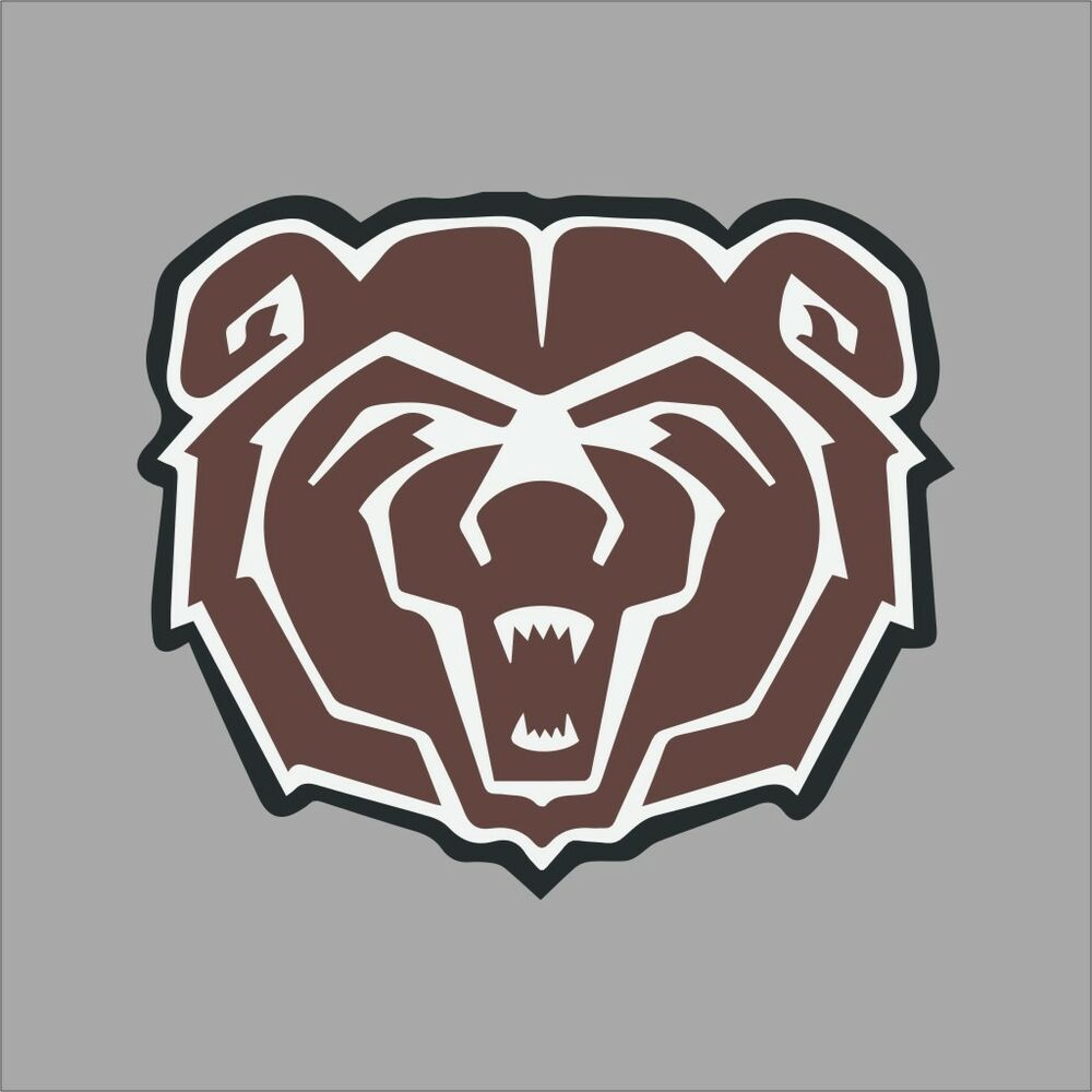 Vinyl Window Decals : Southwest missouri state bears ncaa college vinyl decal