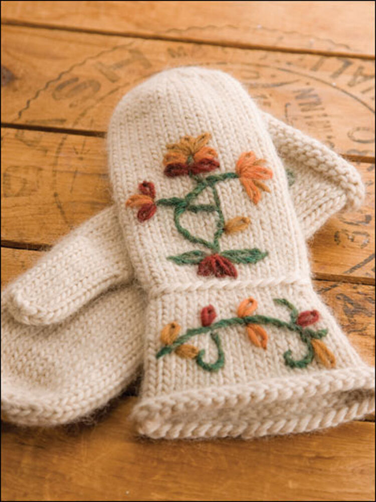 Easy Knitting Ideas For Adults : Warm hearts knitted gloves mittens kids adults easy