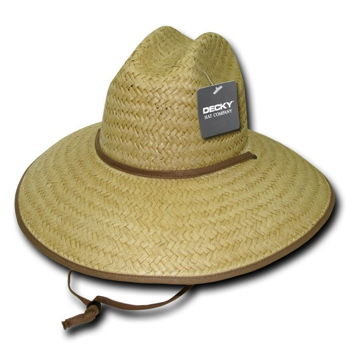 New Decky Paper Straw Lifeguard Cowboy Hat Hats One Size