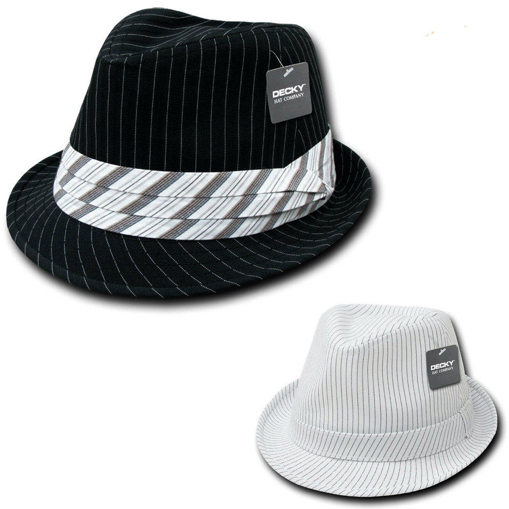 NEW STYLISH DECKY PINSTRIPE PIN STRIPE FEDORA FEDORAS HAT ...