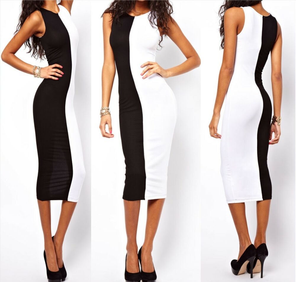 Womens color block fit casual career wear to work wiggle for Creer dressing