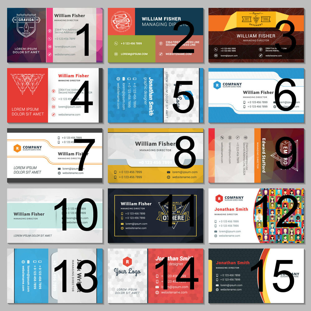 500 Business Cards Full Colour Printing Front Back