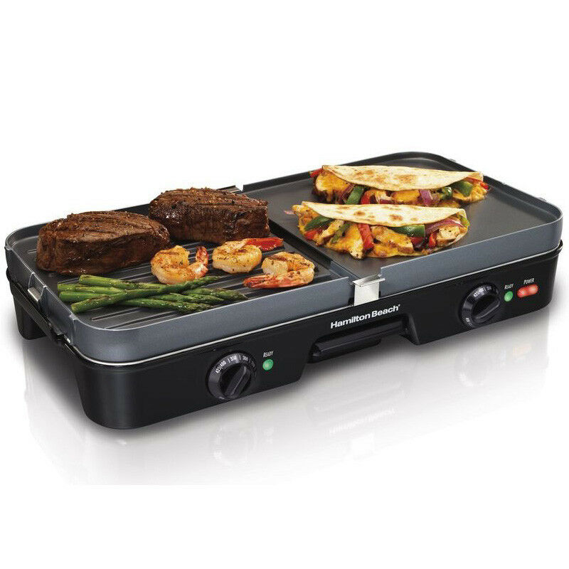 Countertop Electric Grill : in-1 Indoor Electric Grill & Griddle, 180 Sq. In. Large Countertop ...