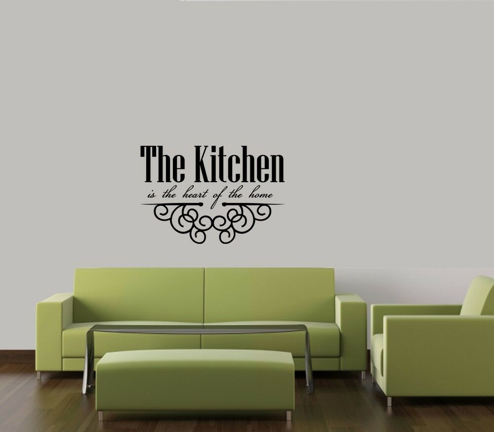 From Seword Wall Art Vinyl Lettering Home Decor ~ Kitchen is the heart of home words lettering vinyl