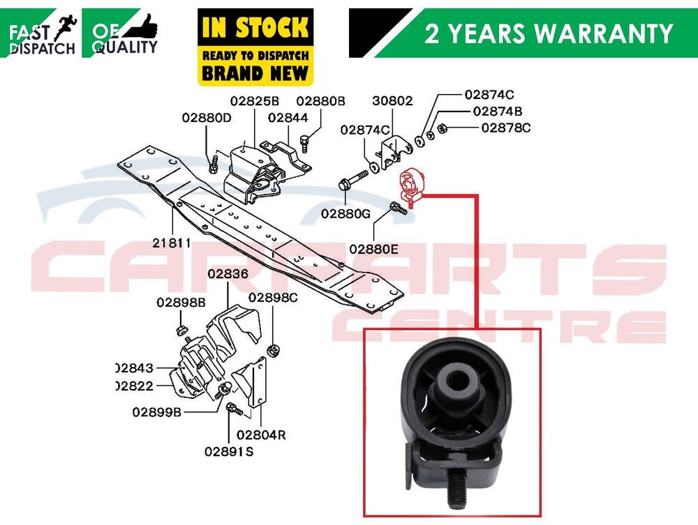 For Mitsubishi L200 Pajero Engine Gearbox Mount Transfer
