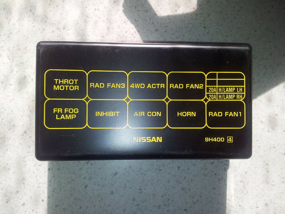 nissan  trail    fuse relay box cover
