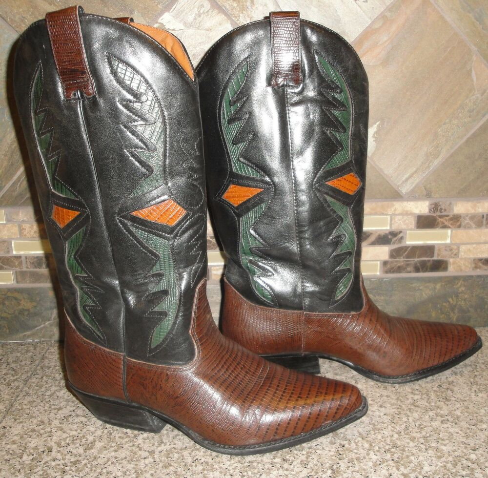 Womens HUNT CLUB Sz 6M Leather Fashion Cowboy Boots GREAT | eBay