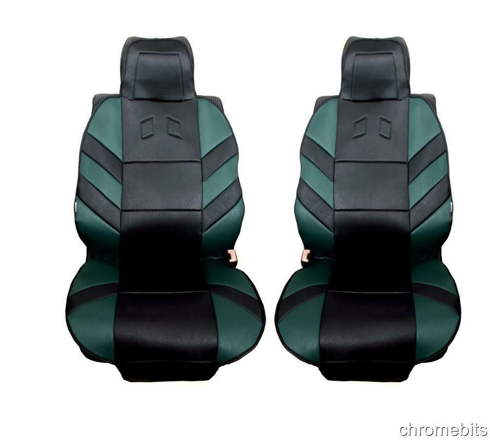 green comfort front seat covers padded for dacia duster sandero logan mcv ebay. Black Bedroom Furniture Sets. Home Design Ideas