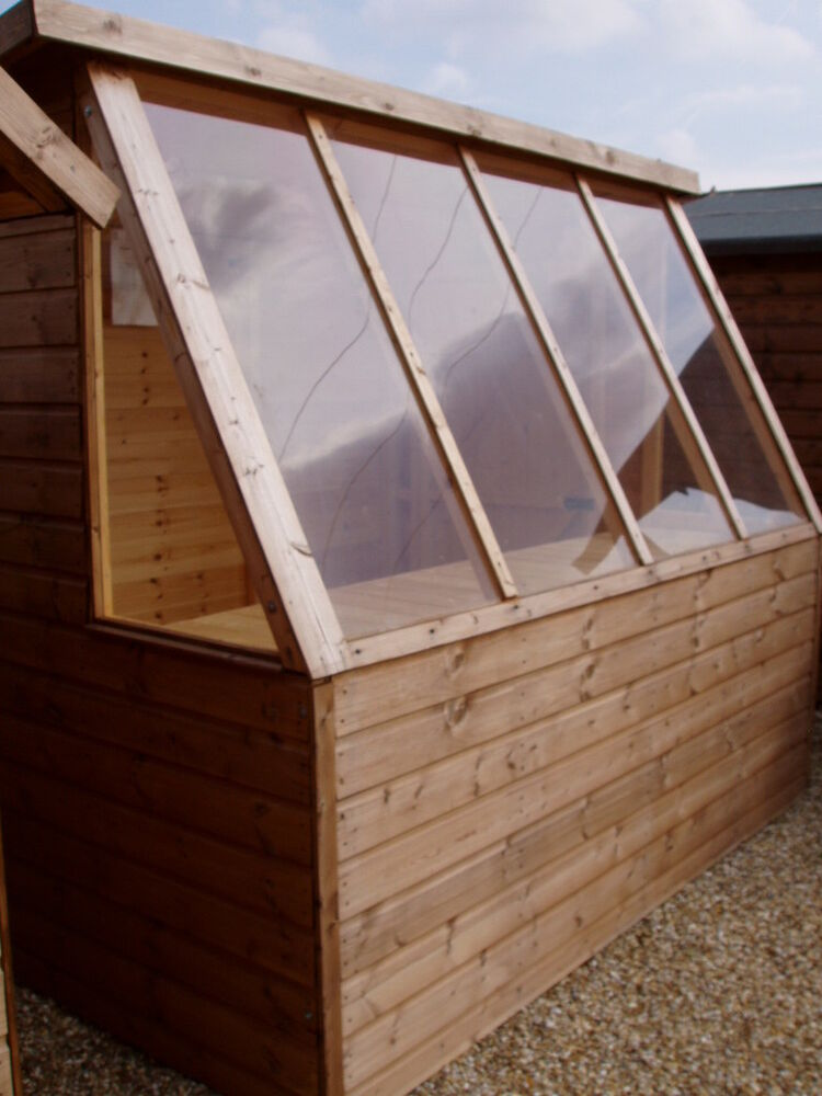 Wooden potting shed greenhouse optional cladding styles ebay for Buy potting shed
