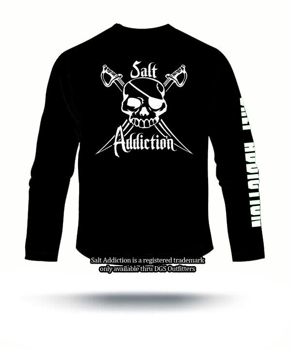Salt addiction long sleeve fishing t shirt saltwater flats for Saltwater fishing shirts