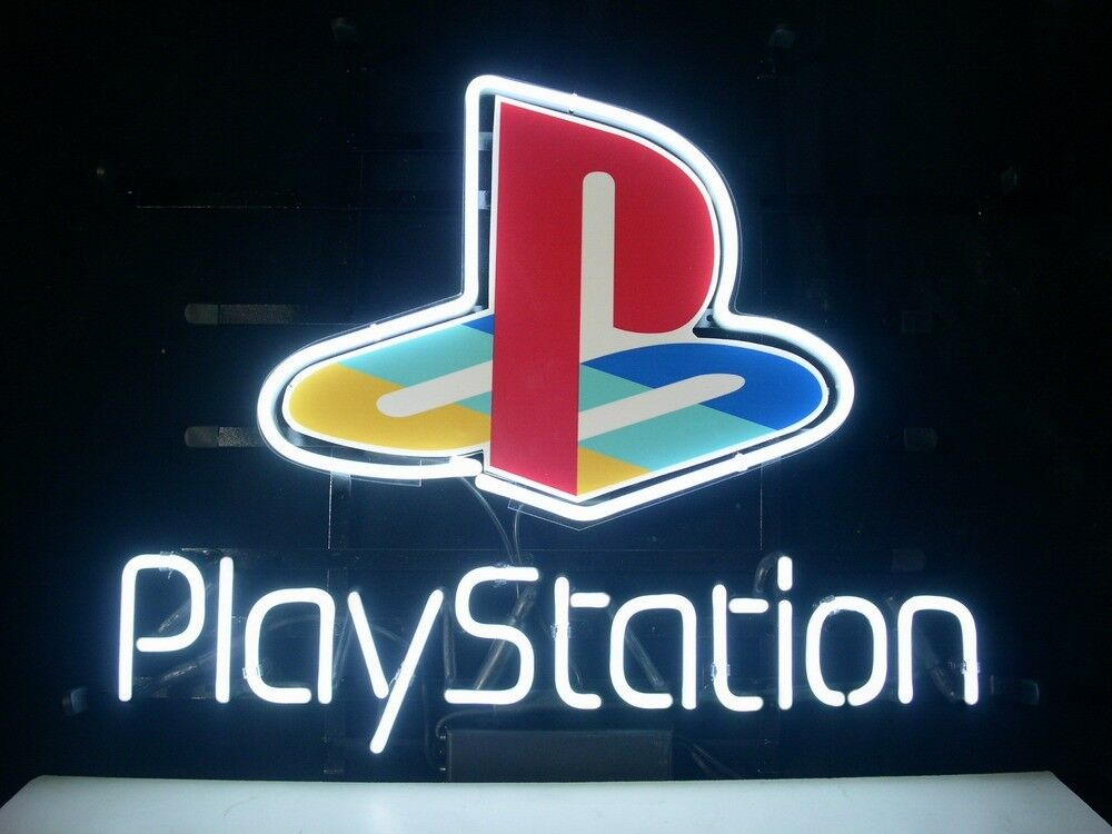 New playstation real glass neon light sign home beer bar for Room decor neon signs
