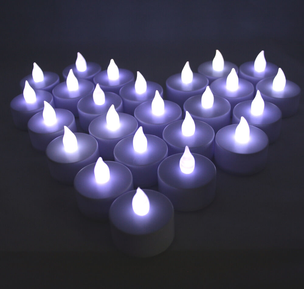 Qty 36 Battery Operated Flicker White Led Tealights Tea