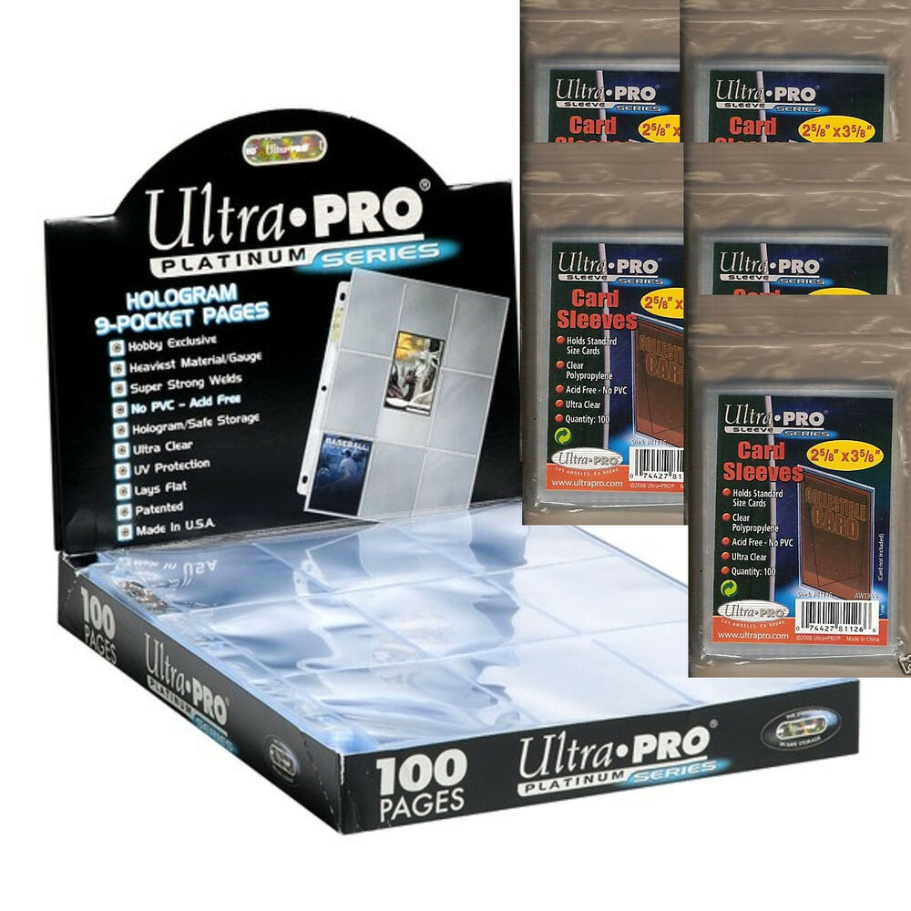 50 Ultra Pro PREMIUM 9-Pocket Trading Card Album Pages
