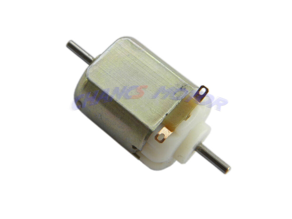 Lot Of 2 Small Dc Motor 1 5 3v Dc Double Shaft Hobby For