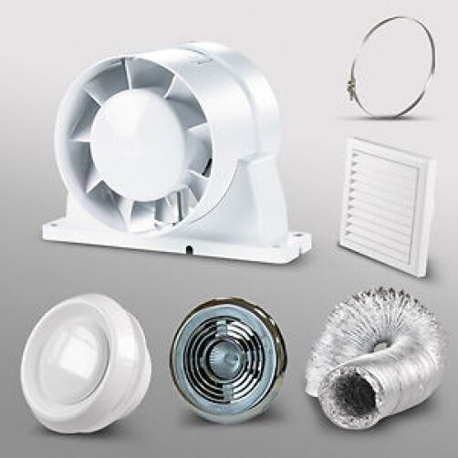 Bathroom Fan Light Kit Loft Shower Room Inline Extractor