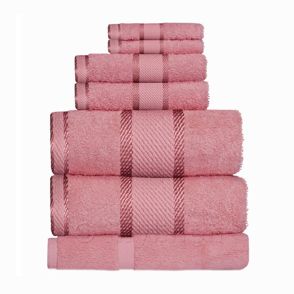 Rose Pink 100 Cotton Towel Range Sets Or Pcs Bath Sheet