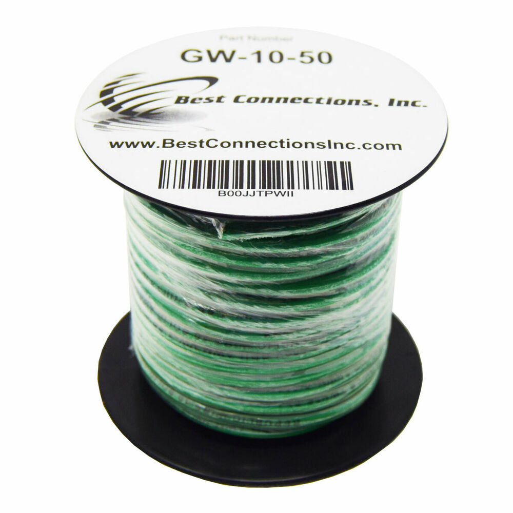 10 Ga Awg 50 Feet Solid Copper Green Ground Wire Ul Listed