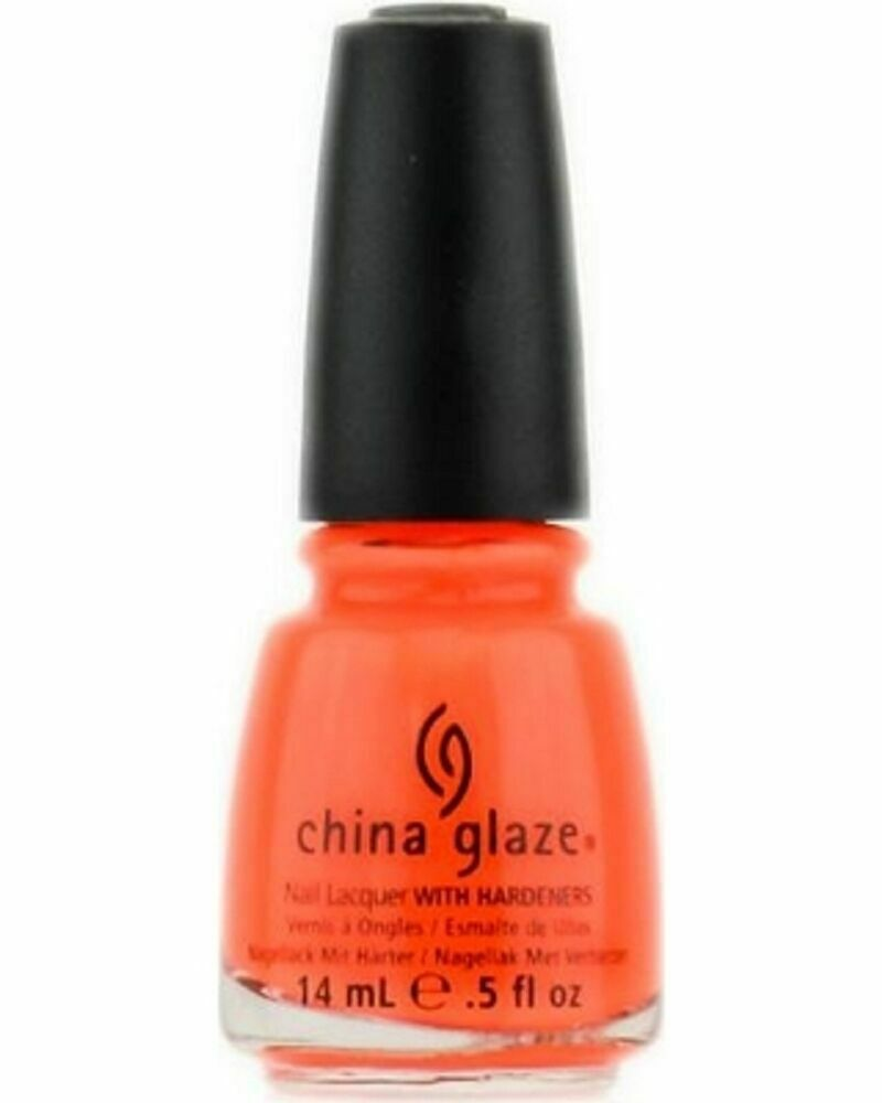 China Glaze Nail Polish Lacquer Orange Knockout 70641 5oz Ebay