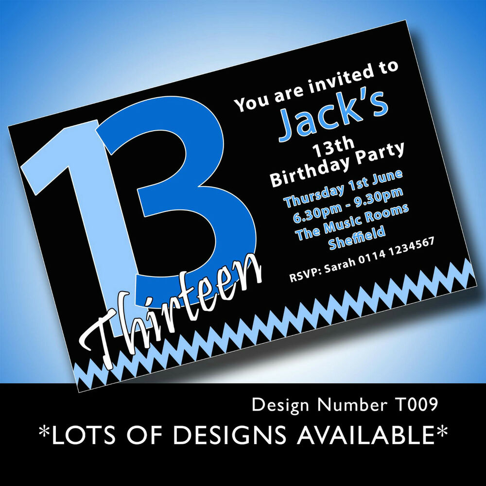 13th birthday party invites cards stationery mince his words boys 13th birthday party invitations filmwisefo
