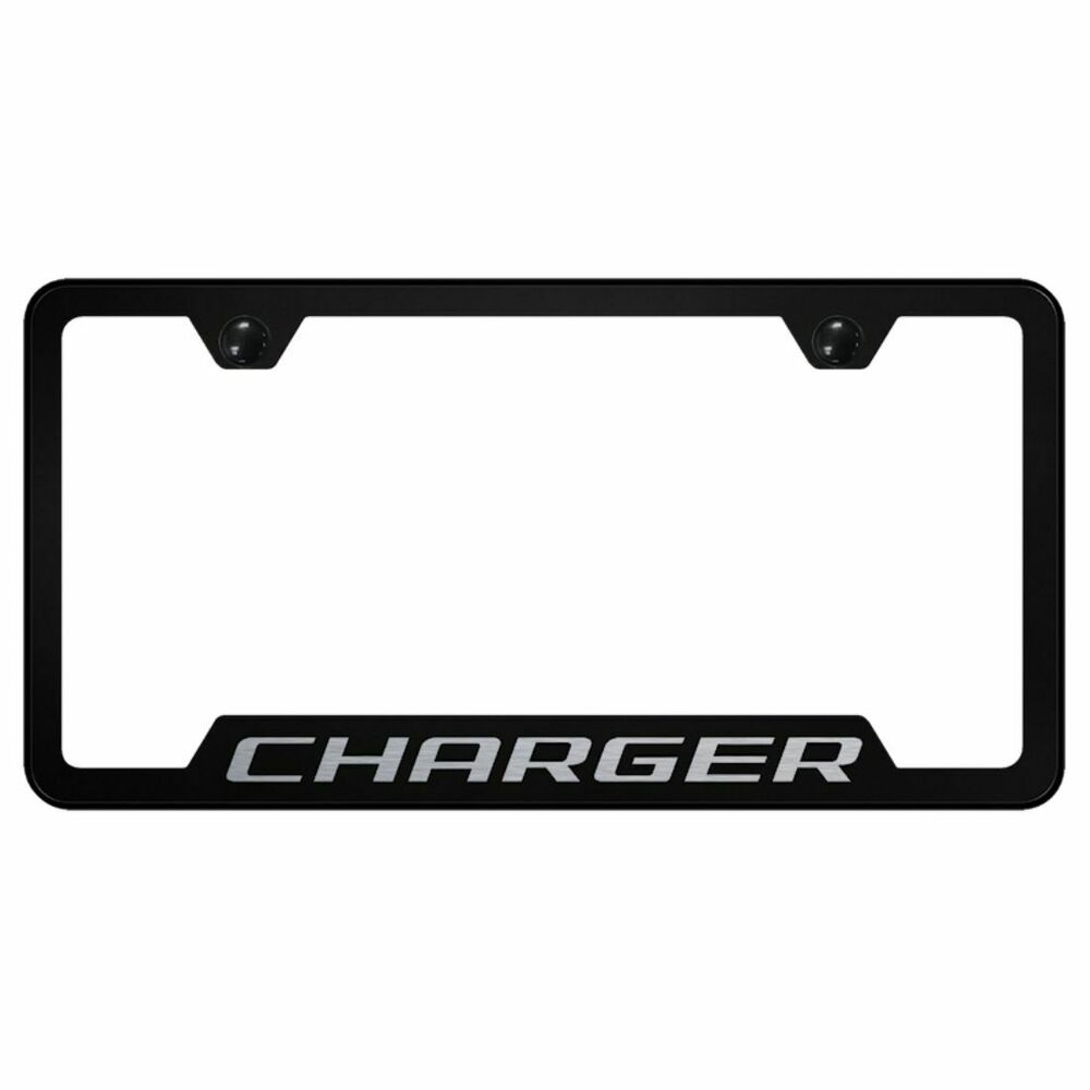 Dodge Charger License Plate Frame Stainless Steel Laser