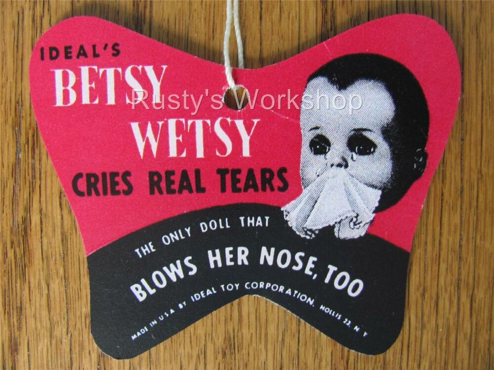 1950 S Ideal Betsy Wetsy Doll Wrist Hang Tag 4th Issue