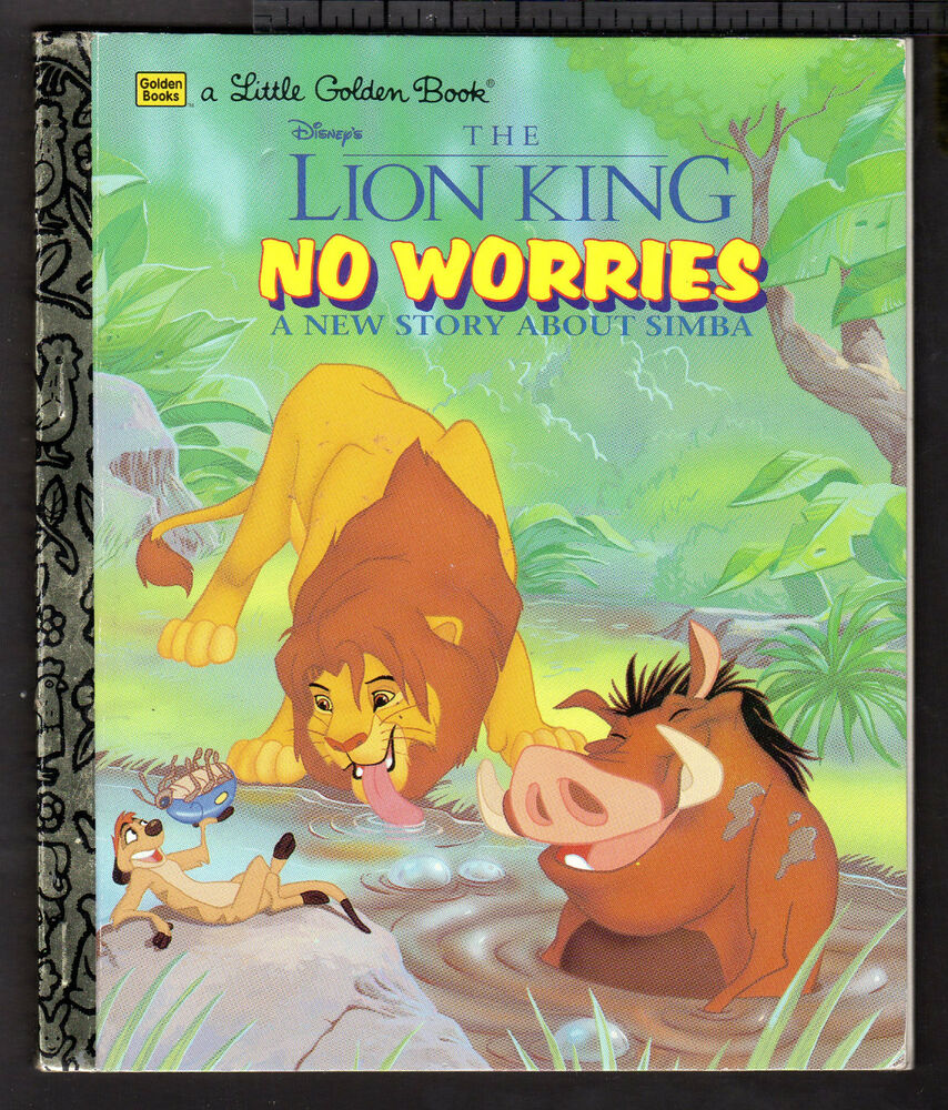 Little Golden Book The Lion King No Worries 1997