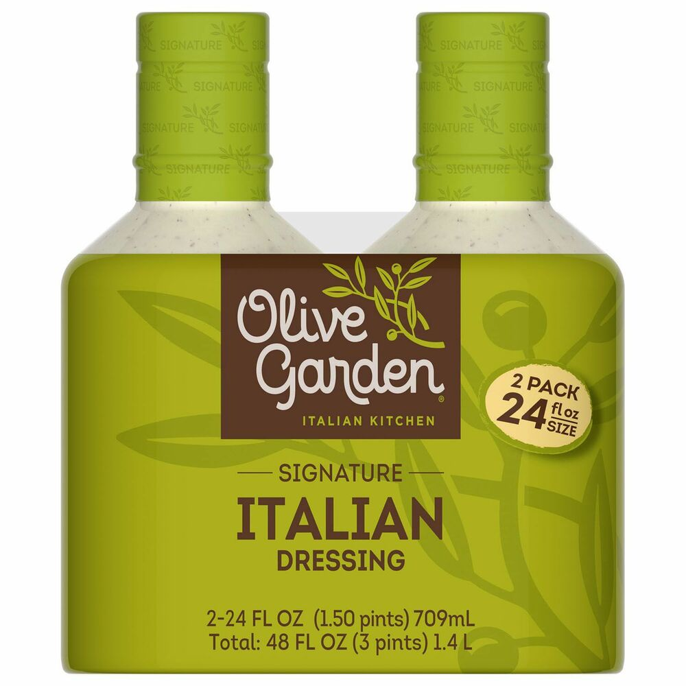 New Olive Garden Italian Salad Dressing 20oz 2 Bottles Vegetable Dip Ebay