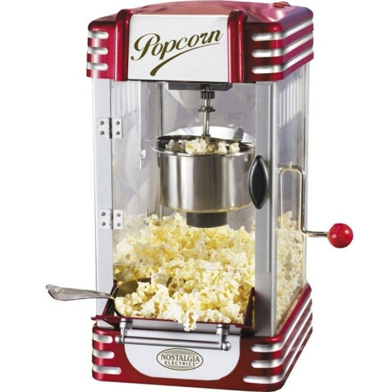 nostalgia home 8 cup retro hot oil popcorn machine mini kettle pop corn maker ebay