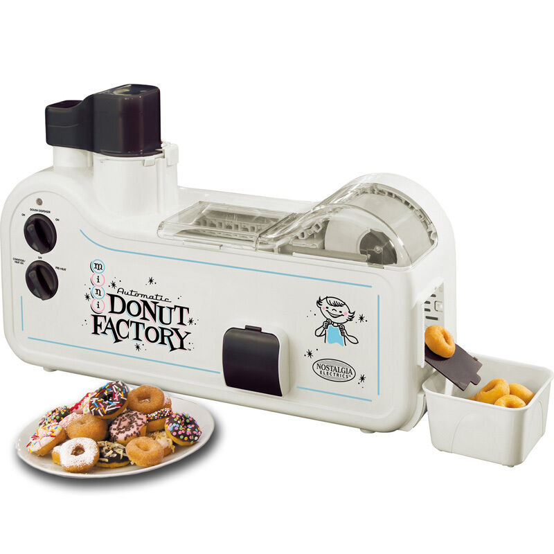 Automatic Doughnut Factory: Nostalgia Automatic Home Donut Factory Maker, Electric