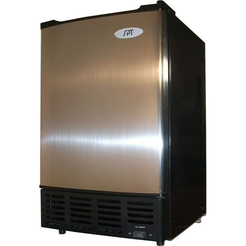 Stainless Steel Under Counter Ice Maker Machine Portable