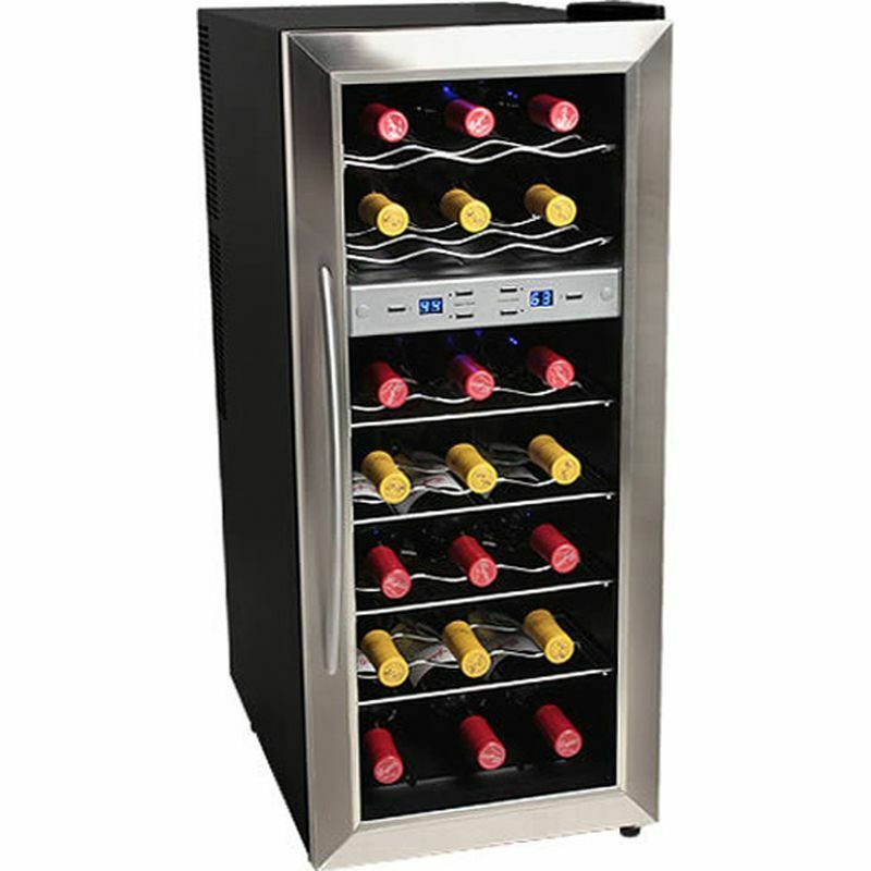 Dual Zone 21 Bottle Stainless Steel Wine Cooler Compact