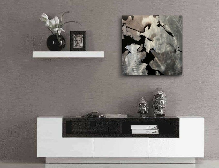 Beautiful Modern Metal Wall Hangings For Your Home: Contemporary Metal Wall Art 'Flower'