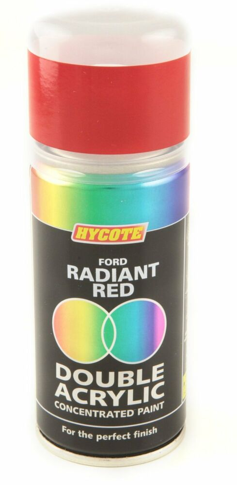 Hycote ford radiant red double acrylic spray paint 150ml for Radiant plexiglass