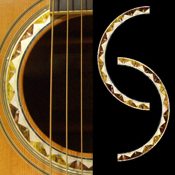 rosette santafe purflinng sound hole inlay sticker decal acoustic guitar ebay. Black Bedroom Furniture Sets. Home Design Ideas