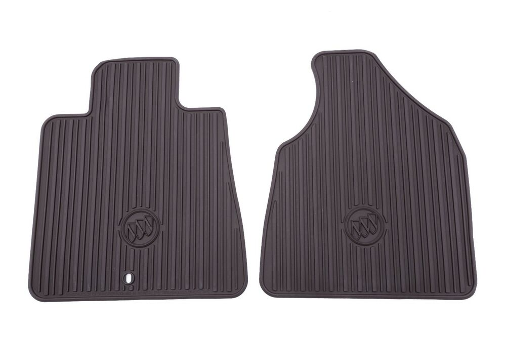 22890386 front all weather mats in cocoa for 08 15 buick enclave w logo by buick ebay. Black Bedroom Furniture Sets. Home Design Ideas