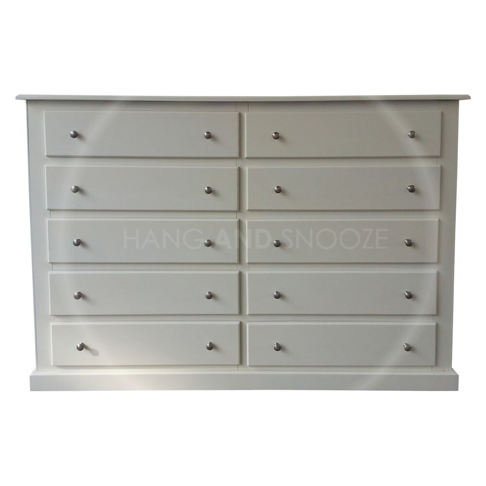 Hand made dewsbury furniture drawer chest ivory silver
