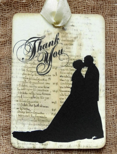 Hanging Wedding Gift Tags : Hang Tags BRIDE GROOM SILHOUETTE WEDDING THANK YOU TAGS or MAGNET #655 ...