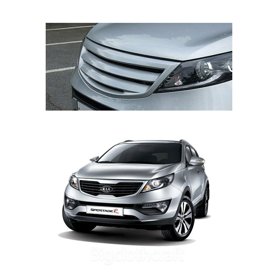 new front hood radiator tuning grill for kia sportage 2011. Black Bedroom Furniture Sets. Home Design Ideas