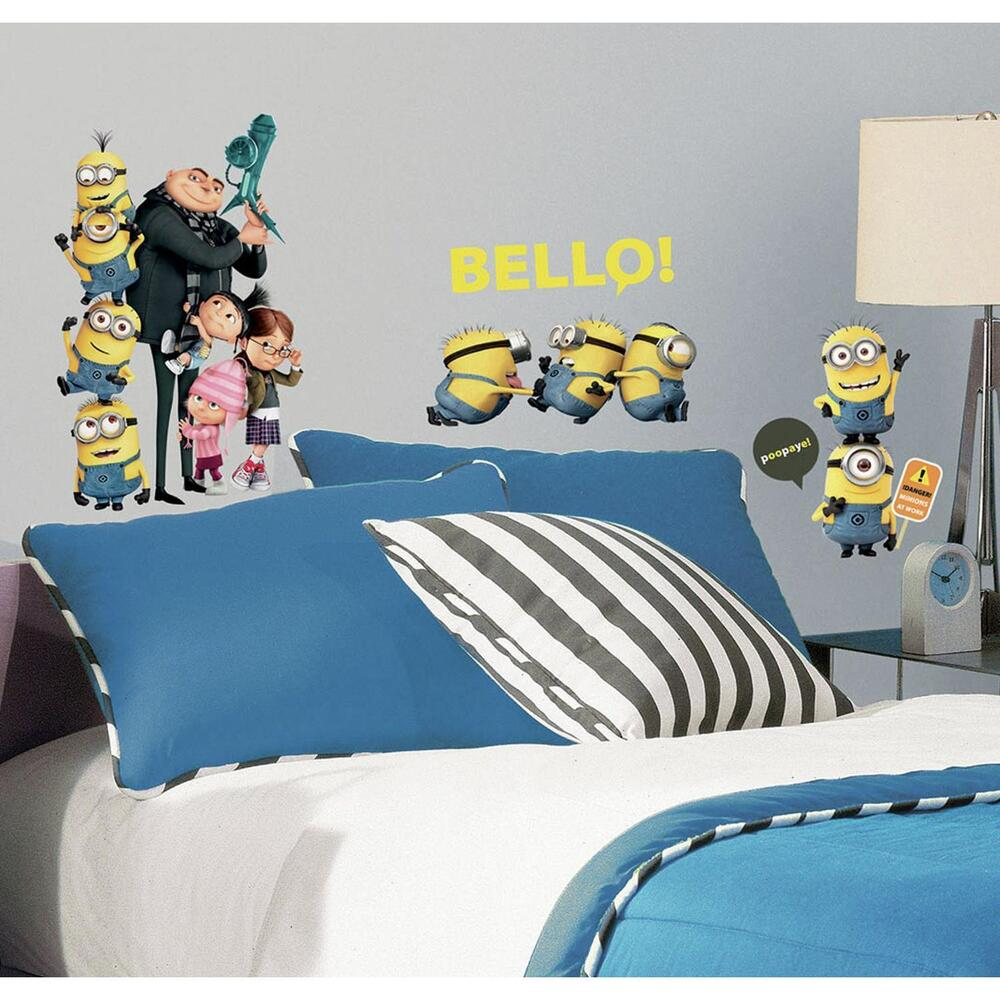 31 New DESPICABLE ME 2 MOVIE WALL DECALS Gru & Minions