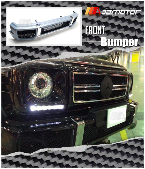 Amg g63 style body kit front bumper for mercedes 1986 2015 for Mercedes benz g500 parts accessories