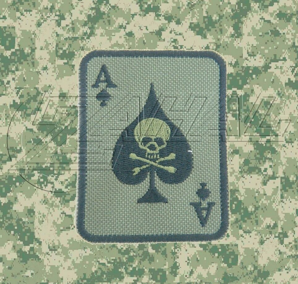 OD Green Ace Of Spades Death Card Morale Patch