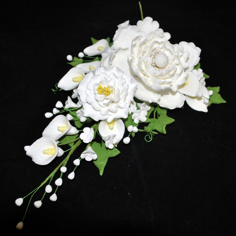 gumpaste flower wedding cake toppers gumpaste peony filler spray cascade wedding cake topper 15024