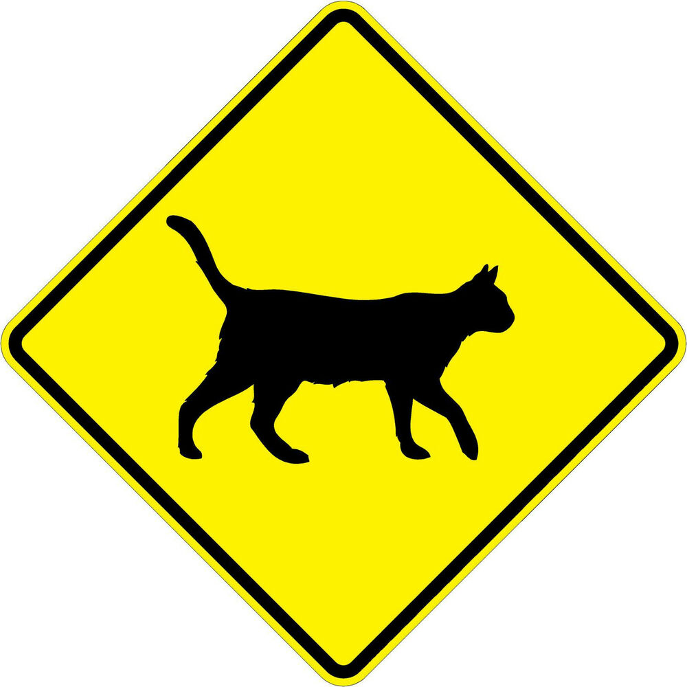 Cat Crossing Symbol 18 X 18 Warning Signs A Real Sign