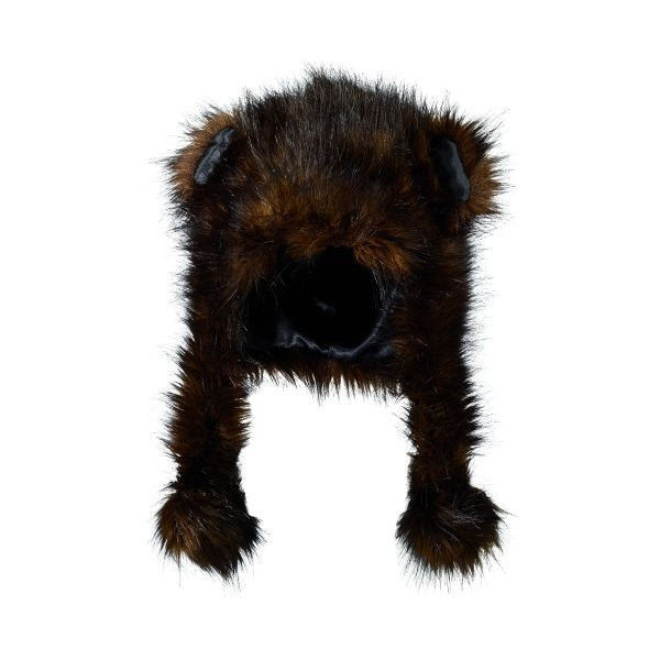 san diego hat kids dark brown bear ears pom faux fur. Black Bedroom Furniture Sets. Home Design Ideas