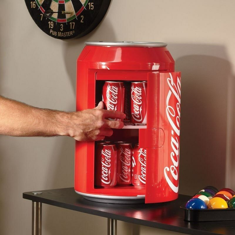 Compact Coca Cola Can Refrigerator Mini Countertop Coke