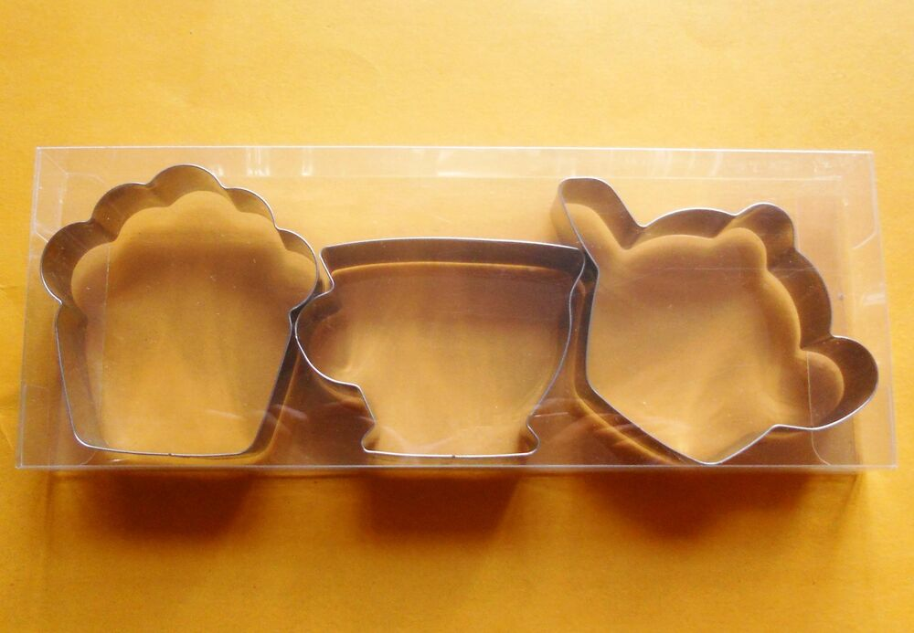 3 Quot Teapot Amp Teacup Amp Muffin Party Baking Cookie Cutters