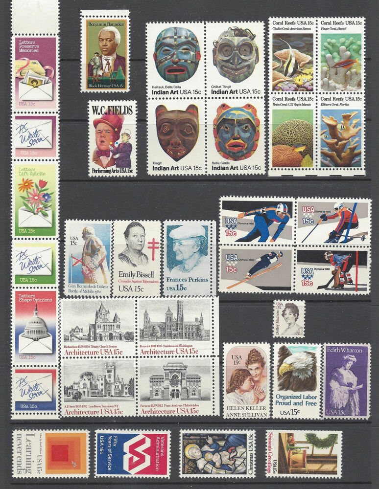 1980 Commemorative Year Set Of 35 Mnh Stamps Ebay