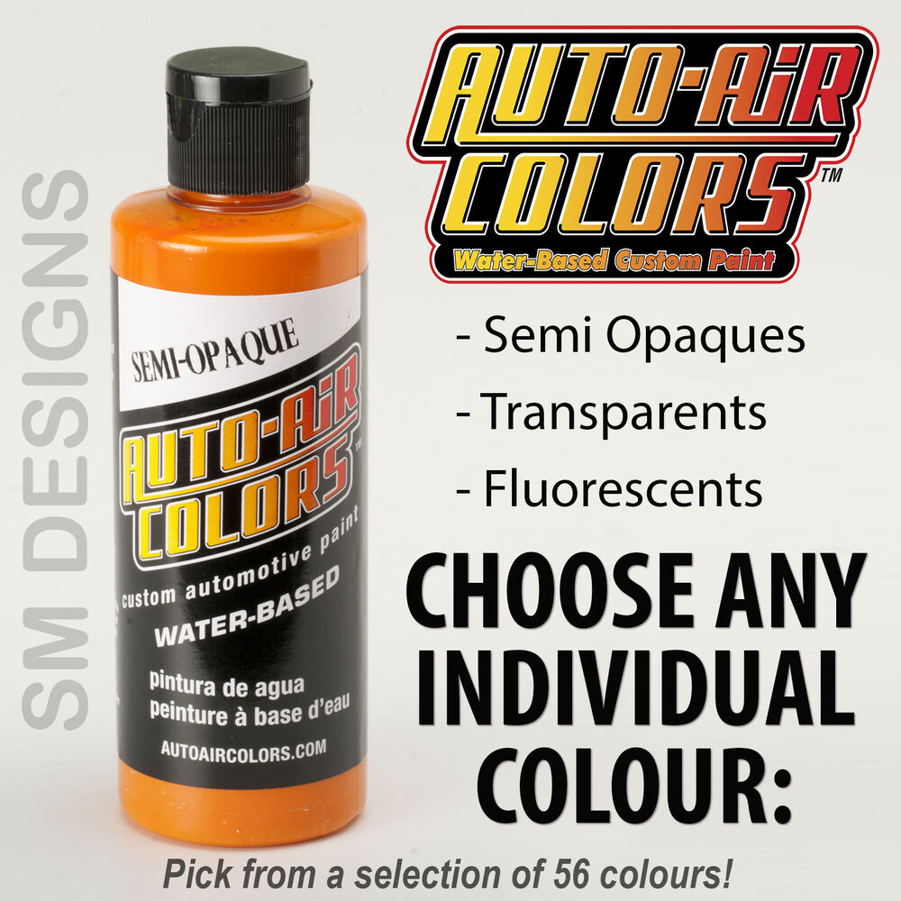 Auto Air Custom Airbrush Paint 120ml Graphic Colors Water Based Multi Surface Ebay